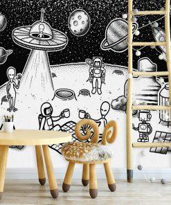 Tapeta z imprezą na Księżycu