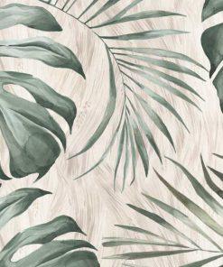 Tapeta z tropikalnymi liśćmi monstery